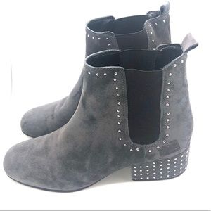 Marc Fisher Gray Studded Chelsea size 8 1/2
